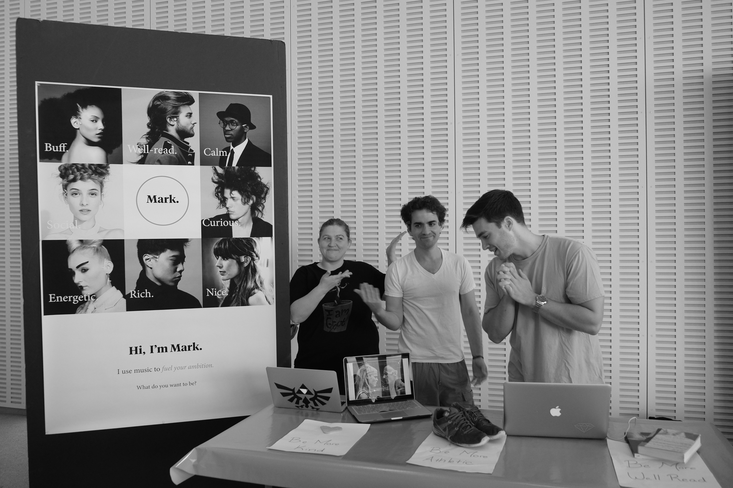 "The ""Mark"" Team presenting their work. Photo Credit: Pablo Lalama Salazar"