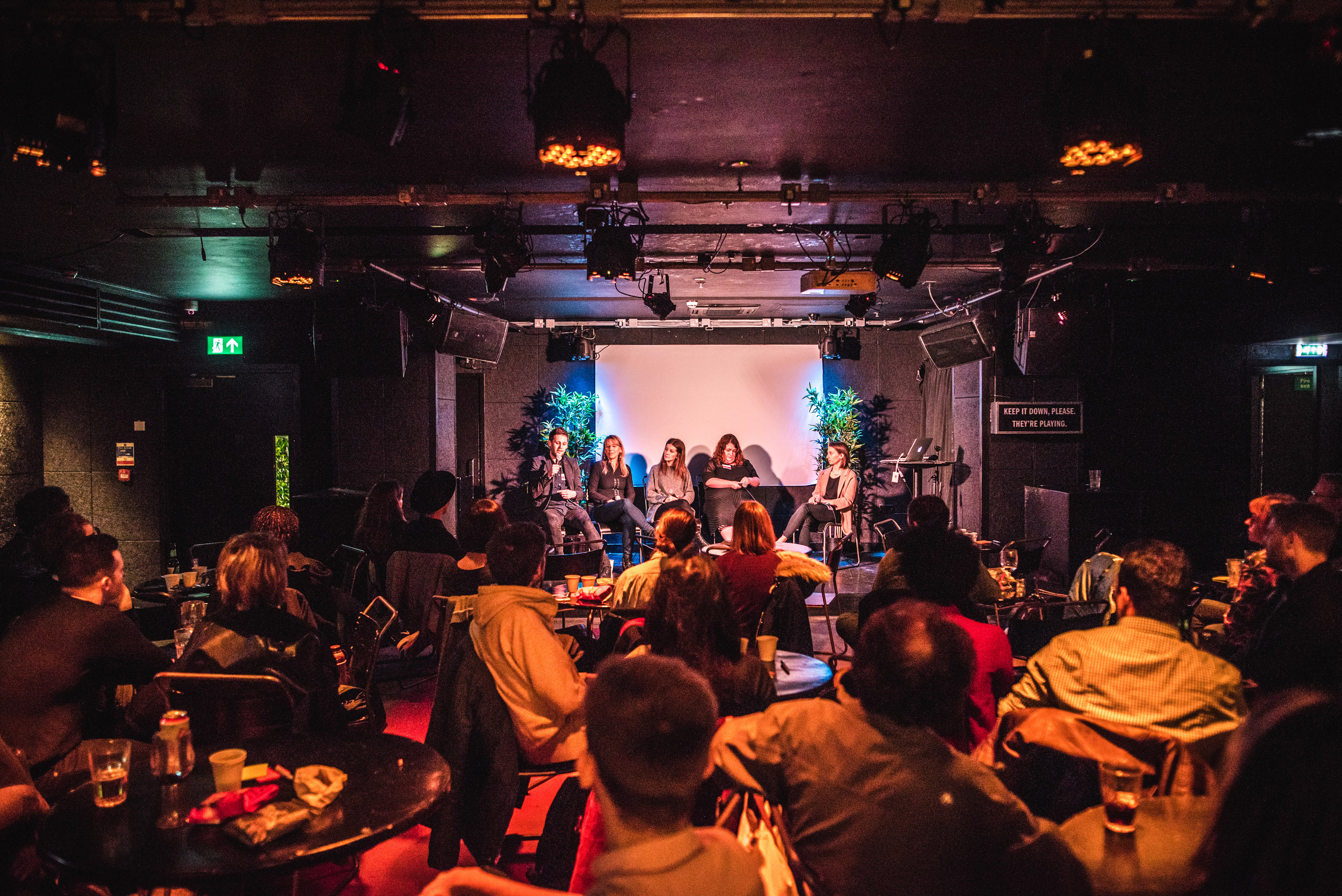 Panelists during the Open Music Ace Hotel Shoreditch artists event (photo credit: Rob Jones / Ace Hotel Shoreditch)