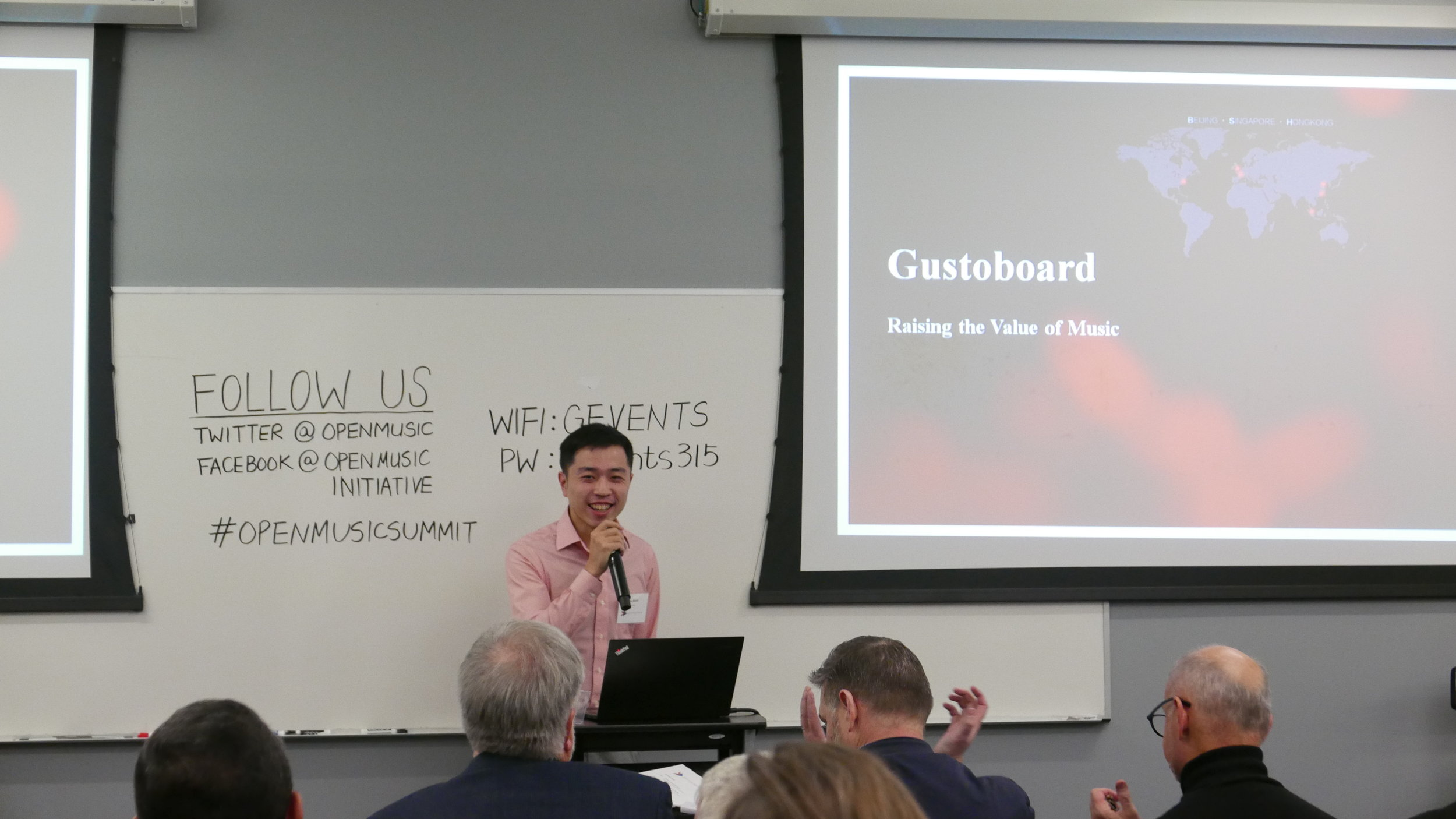 Will Wang,  Founder of Gusto,  presents a future use case on token economics for the music industry