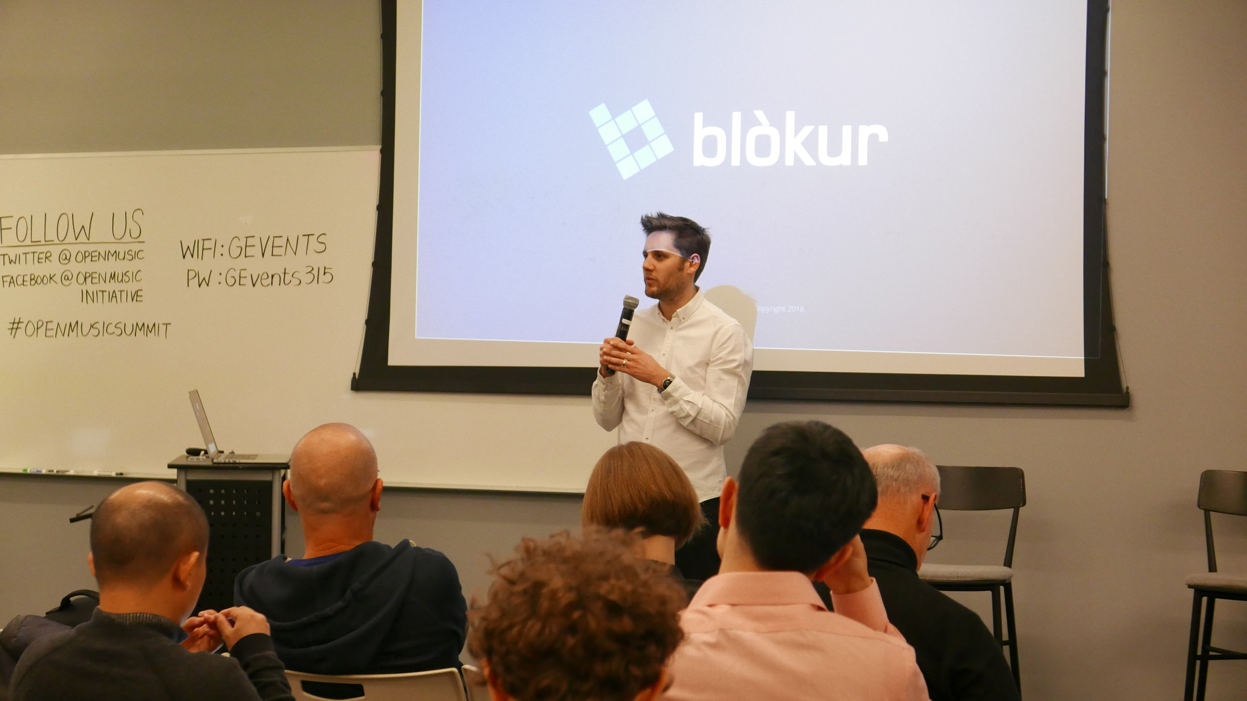 Phil Barry,  Founder of Blokur,  presents a real-world demo on tracking music publishing data via blockchain and machine learning