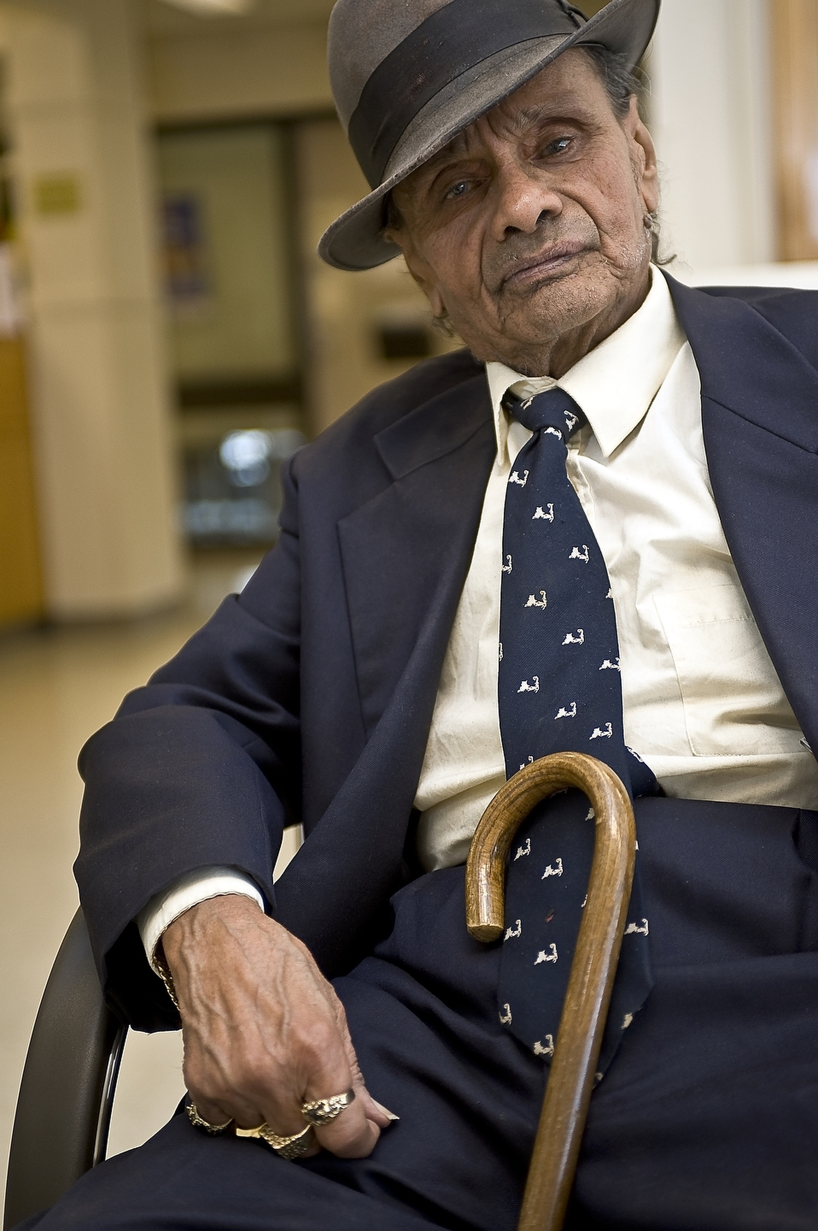 Man visiting hospital