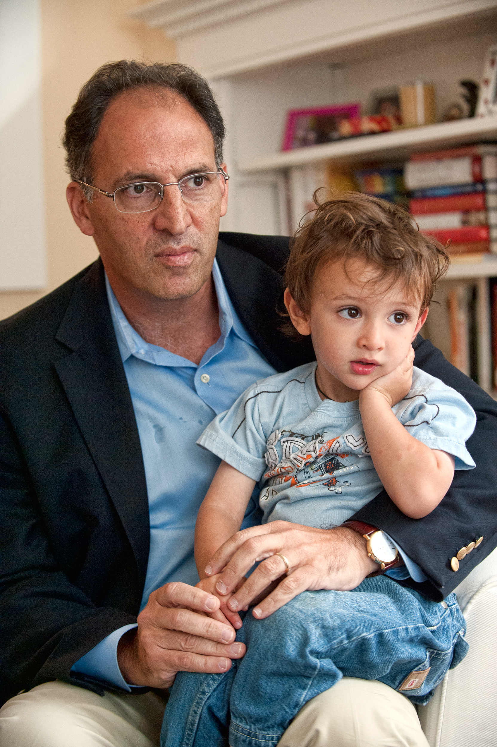 Alan Khazei with son