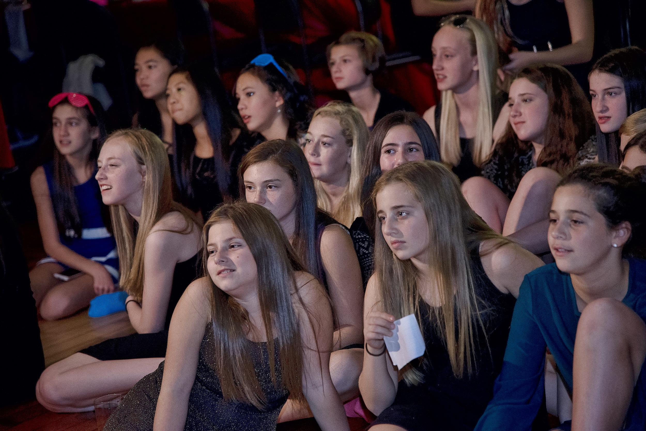 Girls at Bat Mitzvah