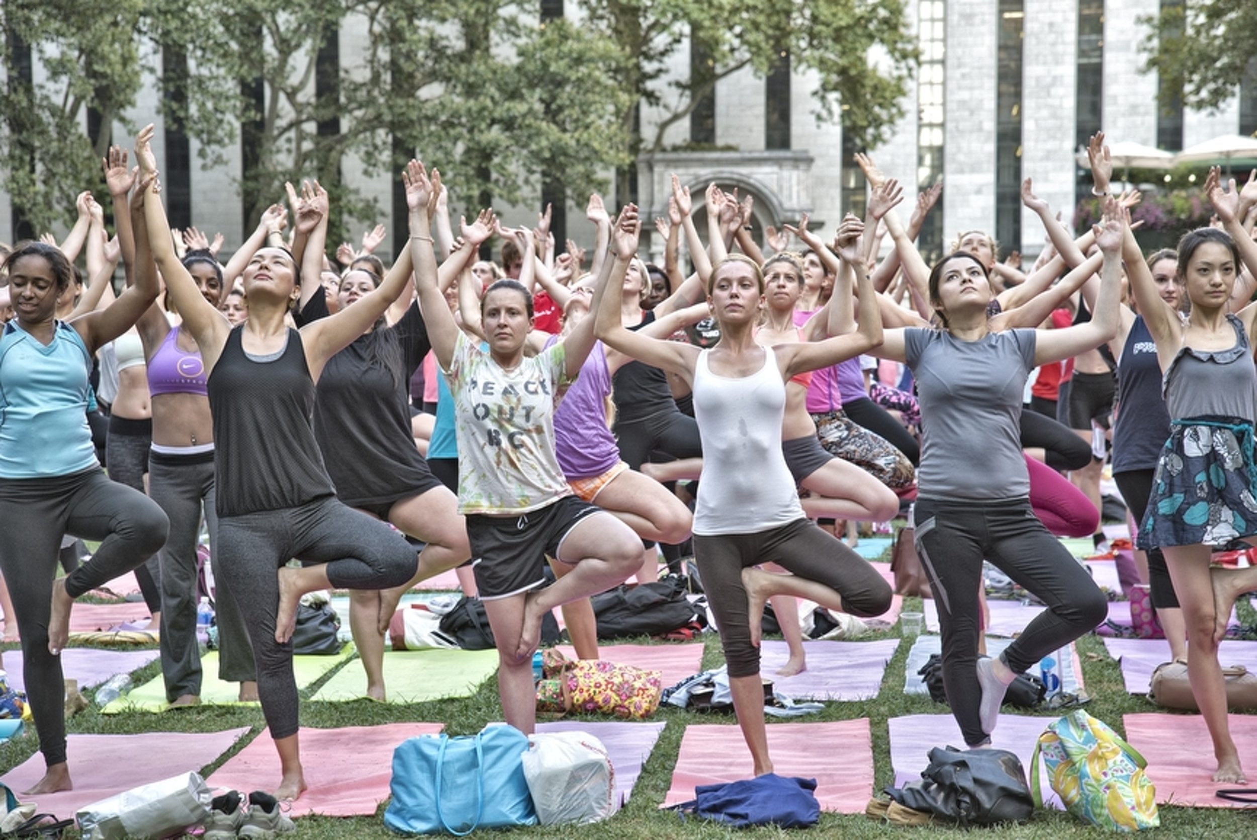 Group Yoga, Bryant Park