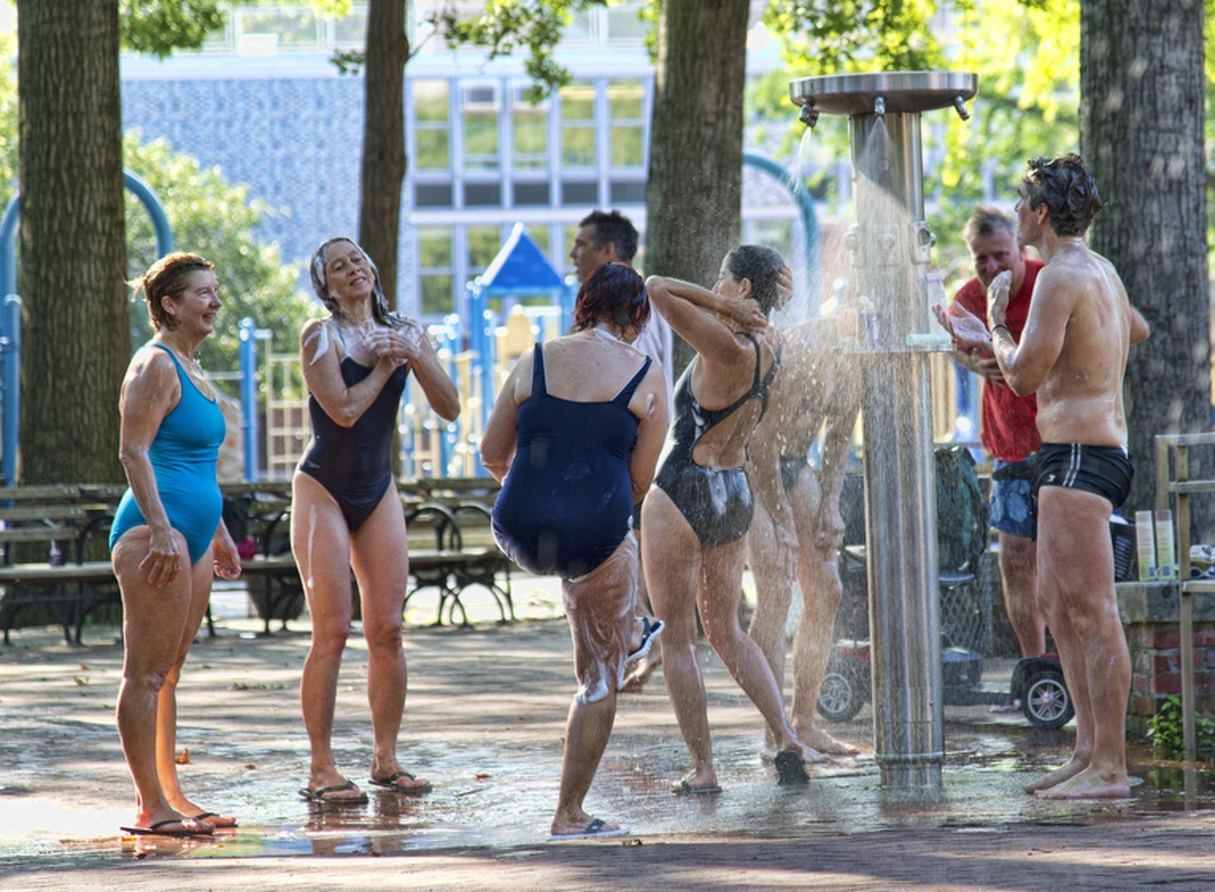 Bathers, Bryant Park