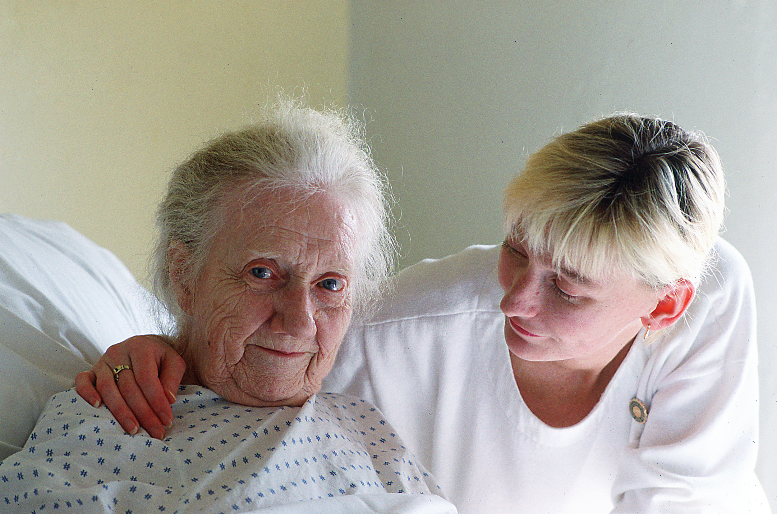 Older Woman with nurse