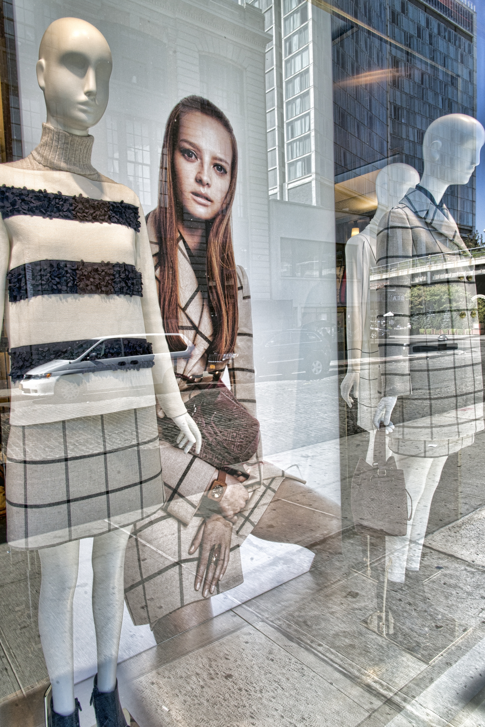 Girl with mannequins