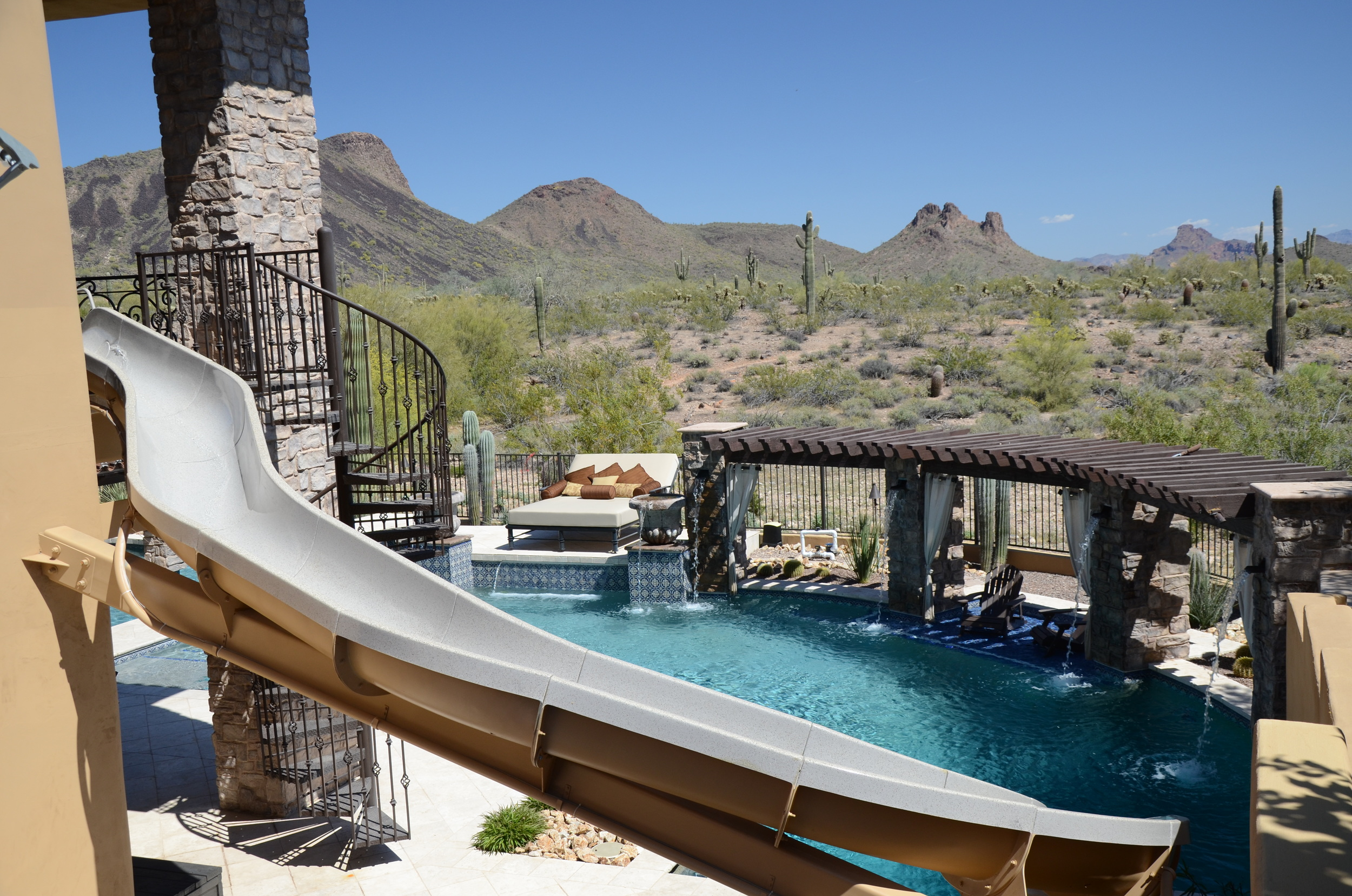 Custom Swimming Pool Features Presidential Pools Spas Amp Patio Of Arizona