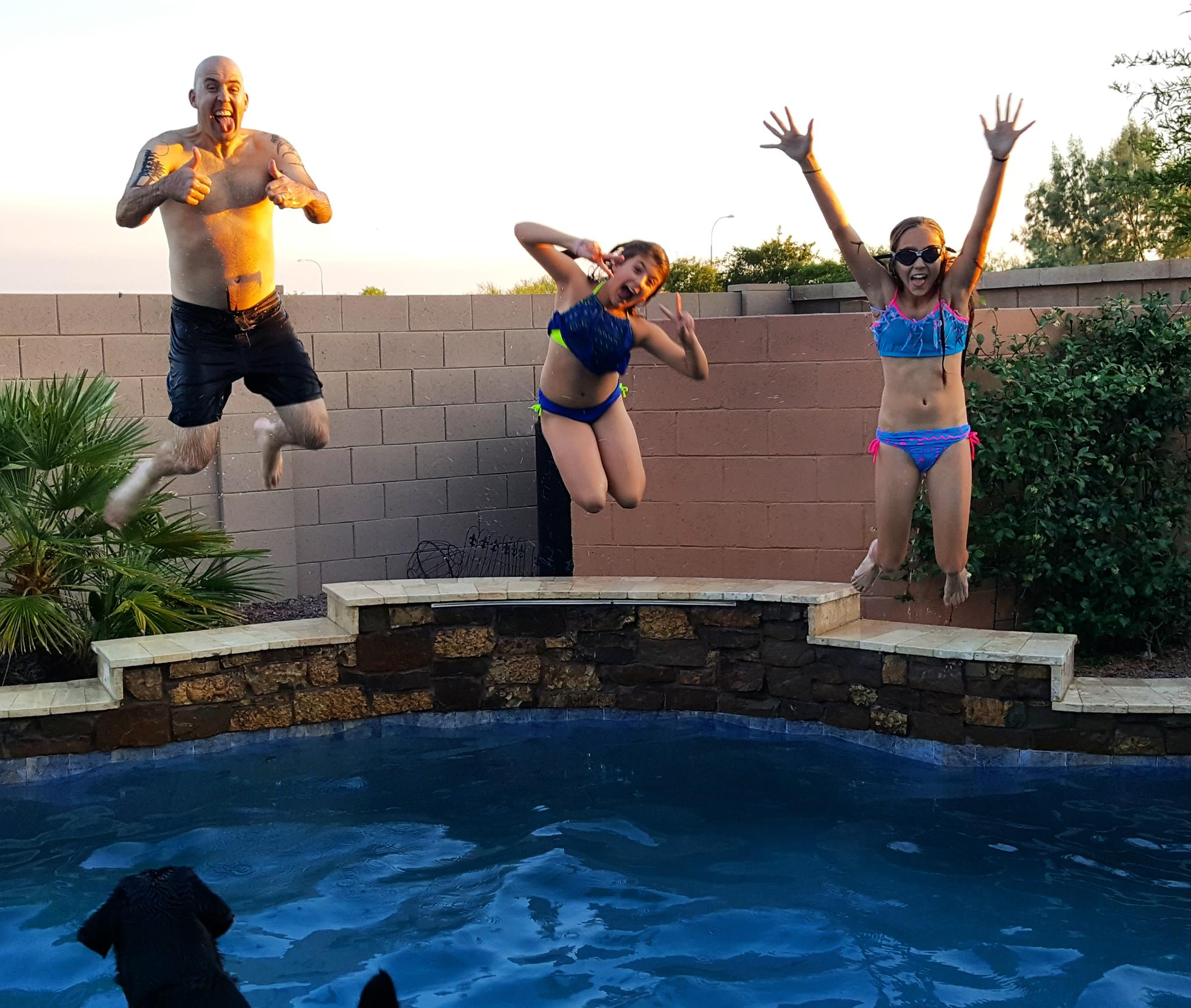 Phoenix-family-jumping-into-pool