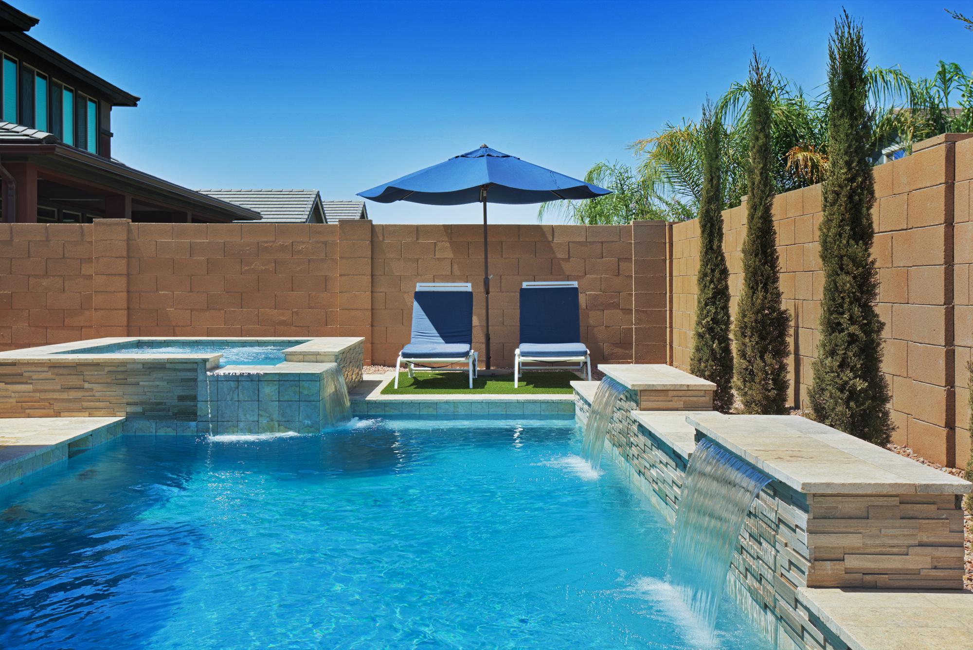 gilbert compact pool design for small backyard