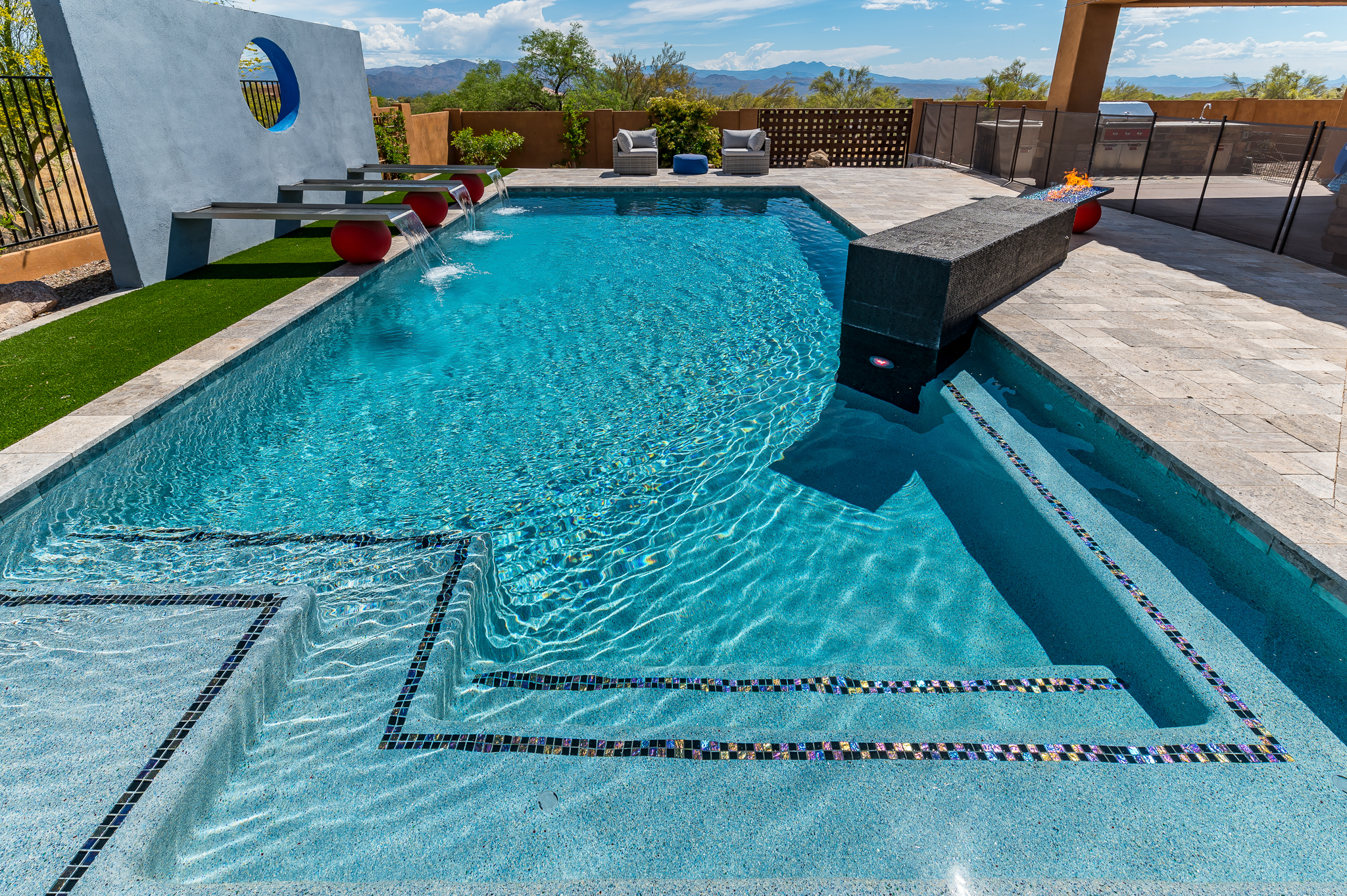 Geometric Swimming Pool Designs — Presidential Pools, Spas & Patio ...