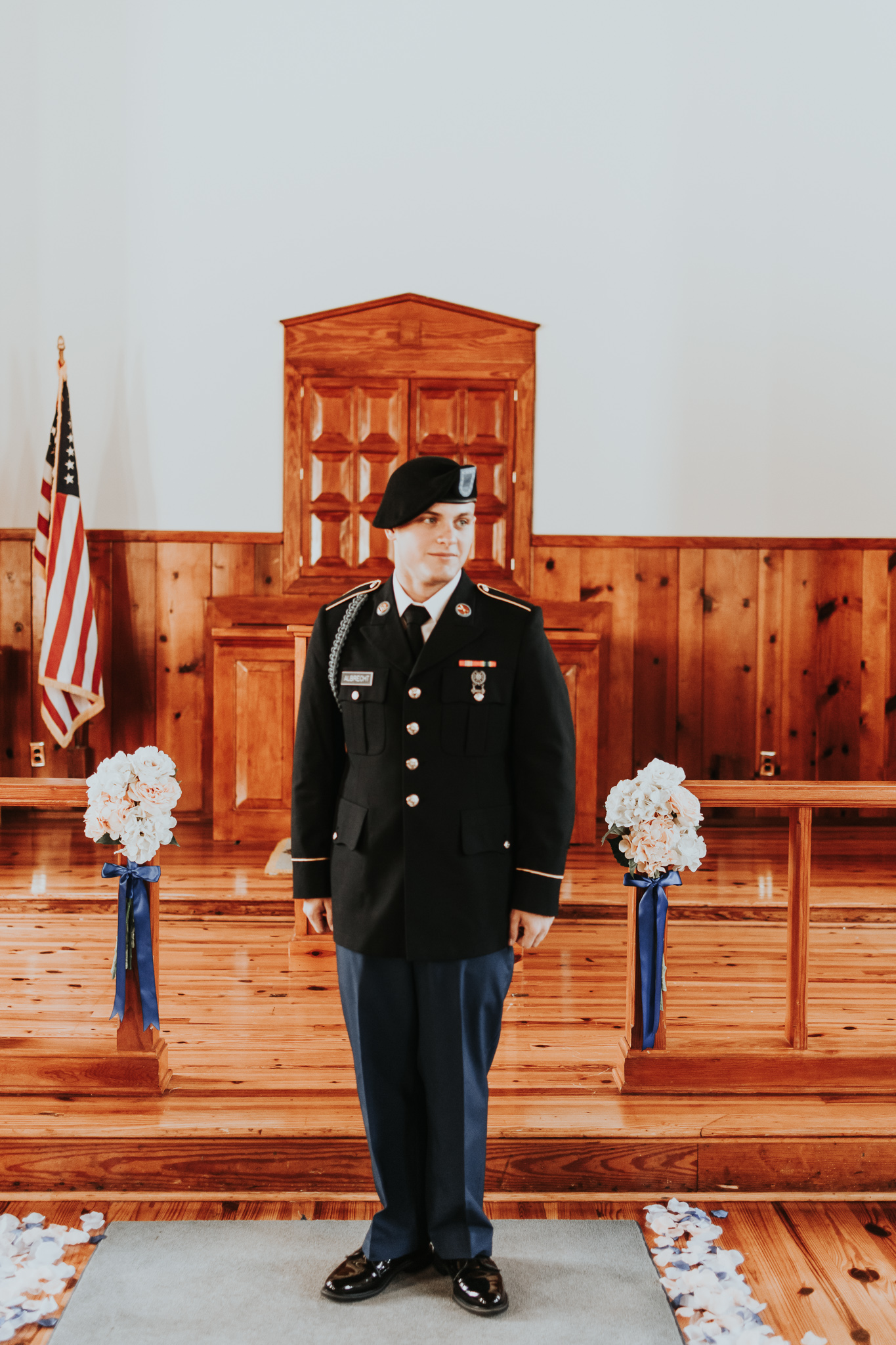 Brittany Martorella Photography   Fort Benning, Georgia   National Infantry Museum World War Two Chapel   Selena & Chad Wedding