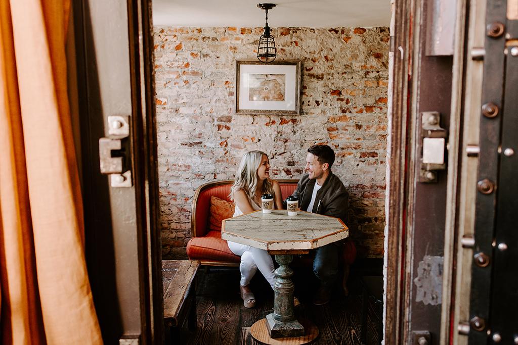 Downtown Columbus Georgia & Iron Bank Coffee Engagement Session