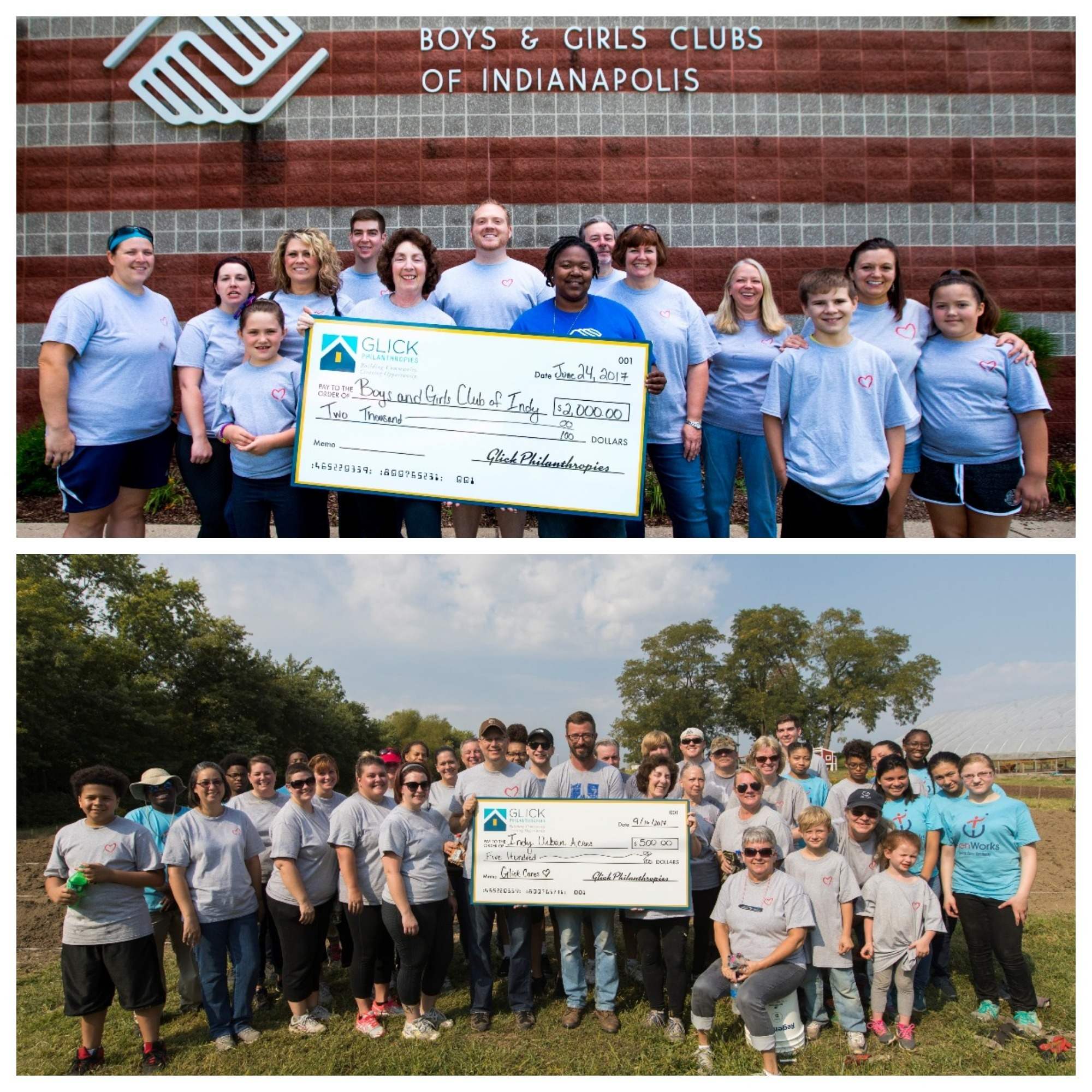 1st Place - Gene B.           Glick Company - Employees at the Gene B. Glick Company were busy in 2017, volunteering over 3,300 hours to make their communities better places to live, work and play. View video entry below.Gene B. Glick Company has chosen TeenWorks as the recipient of ManagInc's $200 donation. TeenWorks provides teens with summer jobs that teach them the importance of self-discipline, a hard day's work, and giving back to the community.