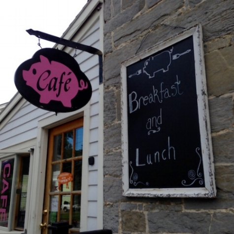 The Pink Pig Cafe, where we had a great lunch and breakfast!