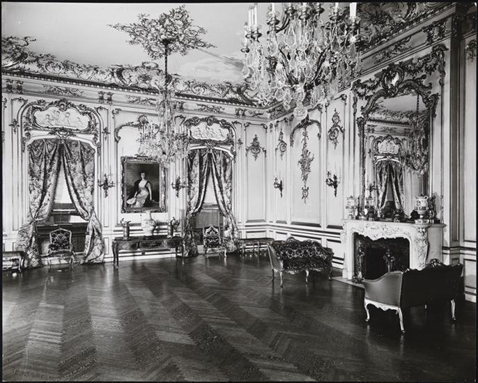 Ruth's newly redecorated Ballroom, presided over by her portrait