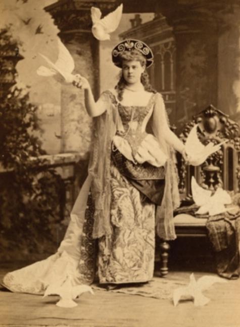 Alva in costume for her ball