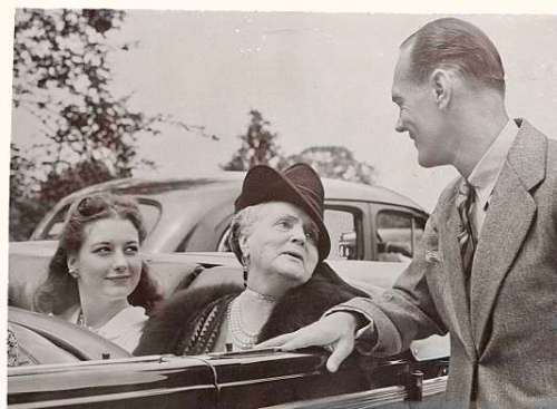 Cee Cee (left) with paternal grandmother Eva Stotesbury and her father James Cromwell