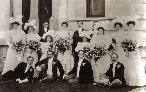 Harry Payne Whitney and Gertrude Vanderbilt's Wedding Party
