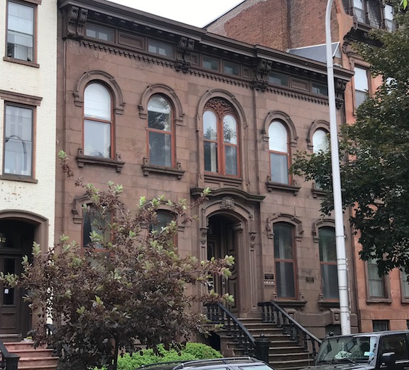 """This  Italianate Brownstone at 284 State St. was one of the earliest """"mansion"""" scaled homes on State Street"""
