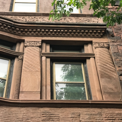 Detail of stone carving at 333 State Street