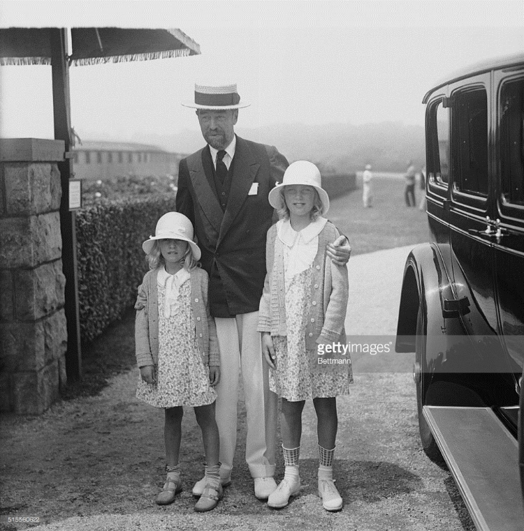 Cornelius with the two young daughters of his sister Gladys