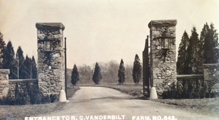 The gates to Oakland farm in its early years