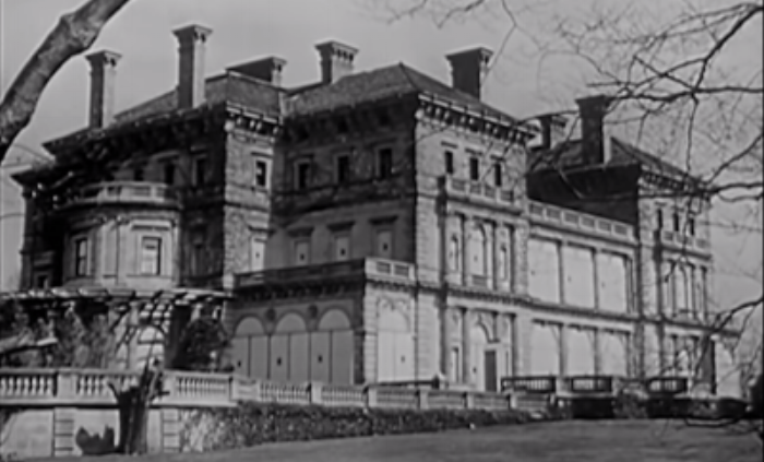 The Breakers boarded up during WW2