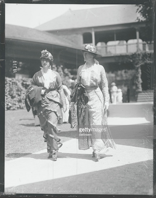 Elsie (on right) at the Newport Casino