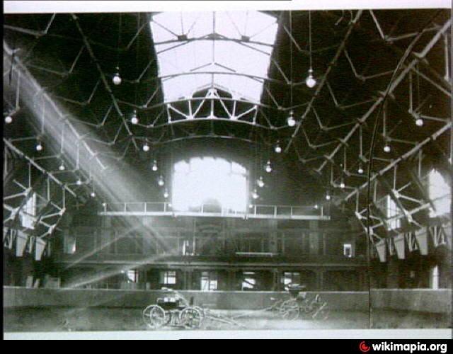 The interior of the training barn