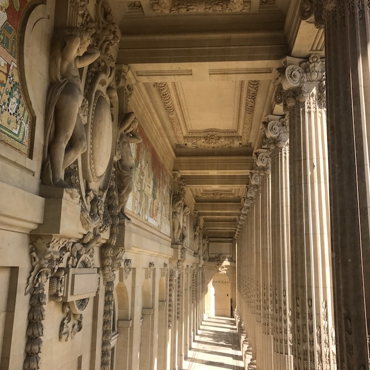 View under the loggia at the grand palais