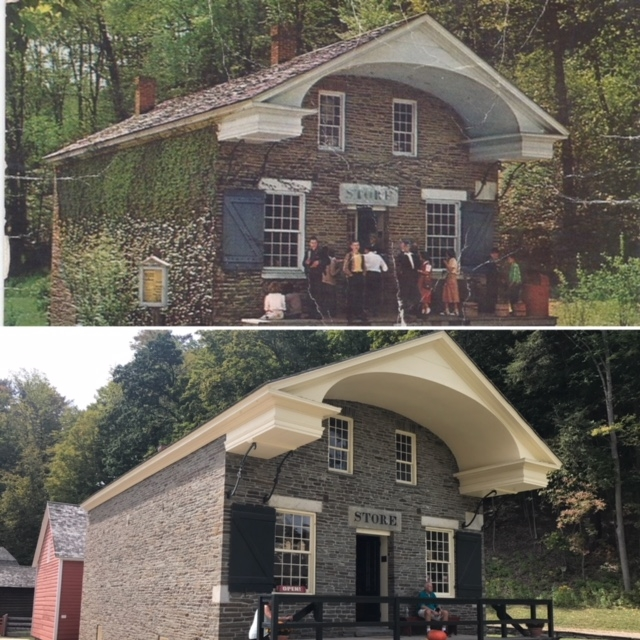 the general Store looks much the same today (bottom) as it did in my youth (top)