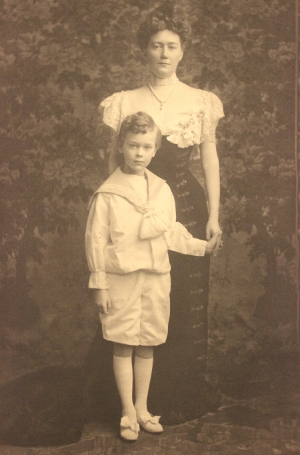 Mrs John Nicholas Brown and her son