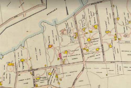 A 1907 Atlas of Newport showing the neighborhood