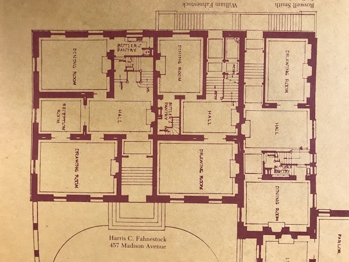 Original plans of the Harris Fahnestock, William Fahnestock and Roswell Smith (later Helen Fahnestock Hubbard) residences