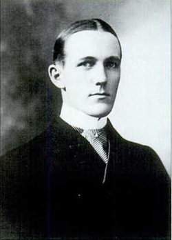 Ernest Fahnestock as a young man