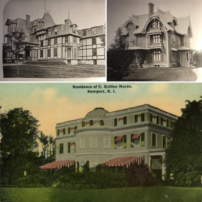 Top left: Coles Cottage, Top right: Whiting Cottage Bottom: Villa Rosa