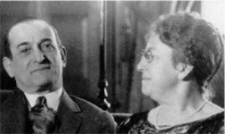 Henry Blank with his wife, who did not accompany him on the Titanic