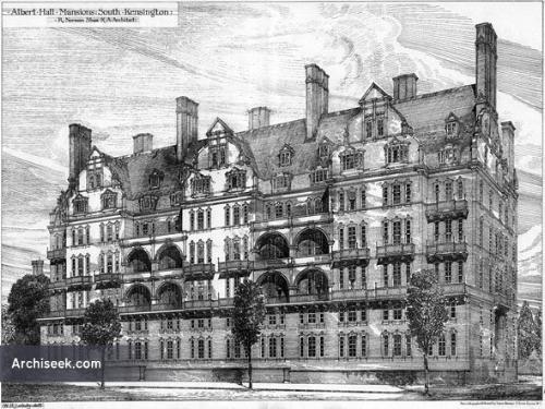 50 Albert Hall Mansions, still standing today