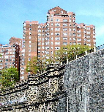Castle Village atop Paterno Castle's retaining walls