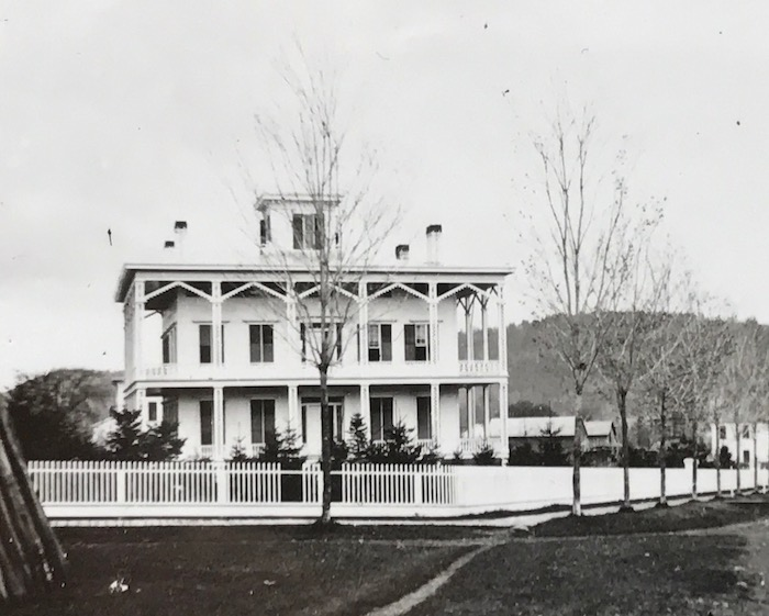 Sunnyside not long after its construction photo: Fenimore Art Museum Library, Cooperstown, NY, Florence Ward Local History Collection