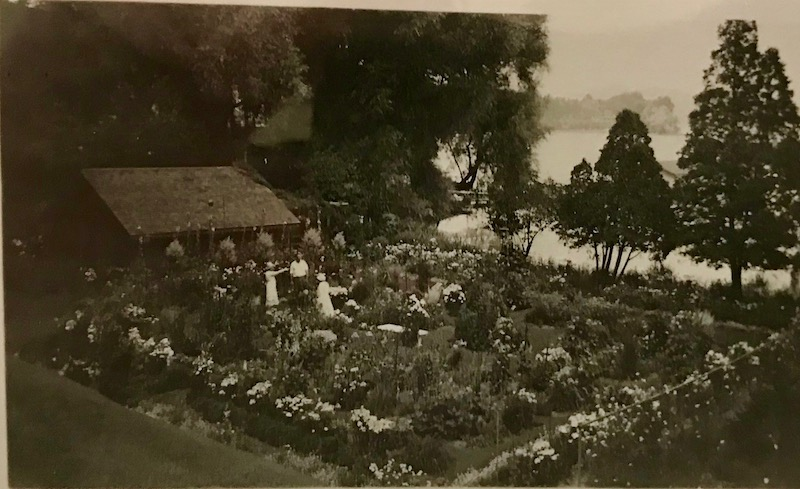 The Zabriskie's garden overlooking the lake. photo: Fenimore Art Museum Library, Cooperstown, NY, Florence Ward Local History Collection