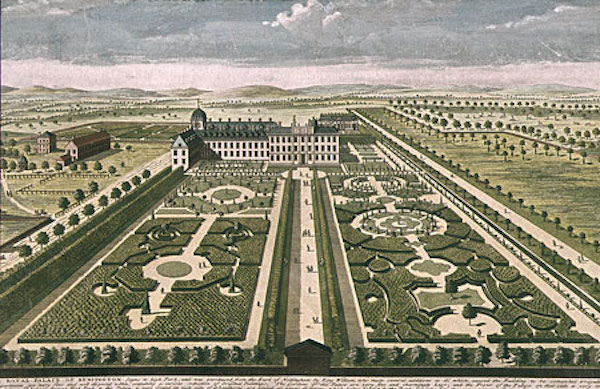 Kensington Palace as it appeared during the reign of William and Mary