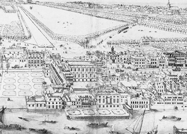 A seventeenth century view of Whitehall Palace