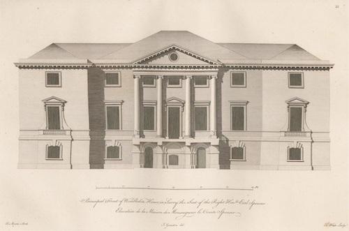 An early drawing of Sarah's Wimbledon Park House