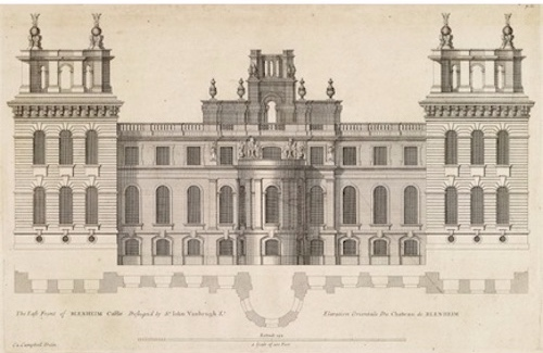 A drawing of Belnheim's east wing