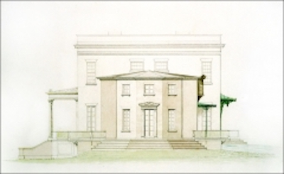 Davis' drawing of the southern wing
