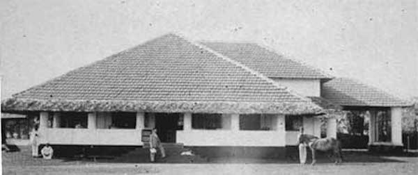 Above, two examples of bungalows built for the British in INdia