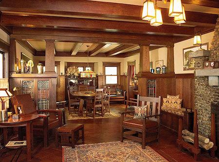A 1915 Craftsman Bungalow interior