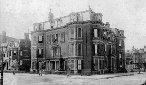 163 Marlborough Street in the 1880s